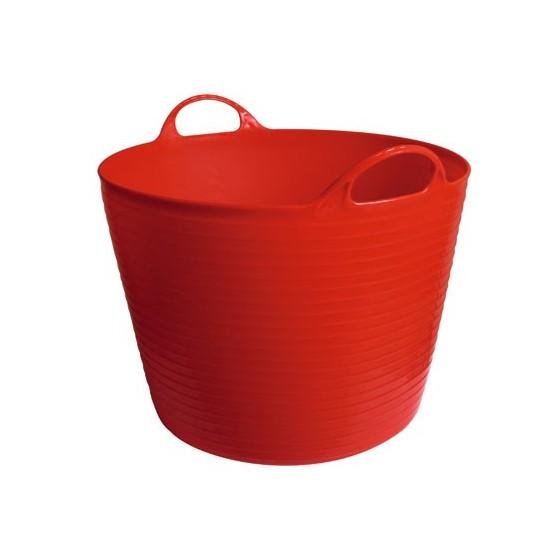 Seau flexible d'écurie Flexiseau à poignées 28 litres Rouge