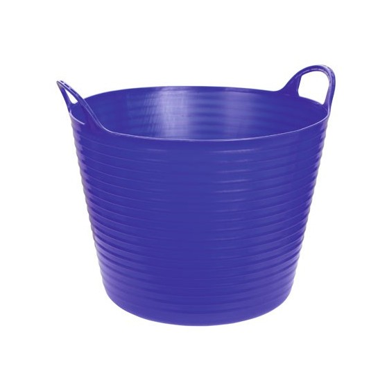 Seau flexible d'écurie Flexiseau à poignées 28 litres Bleu foncé