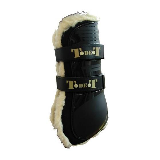 TdeT Guêtres protèges tendons Intérieur mouton Noir