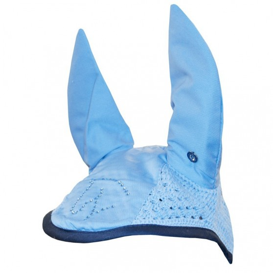 Bonnet chasse-mouches Chicago Starlight strass Bleu ciel / Navy