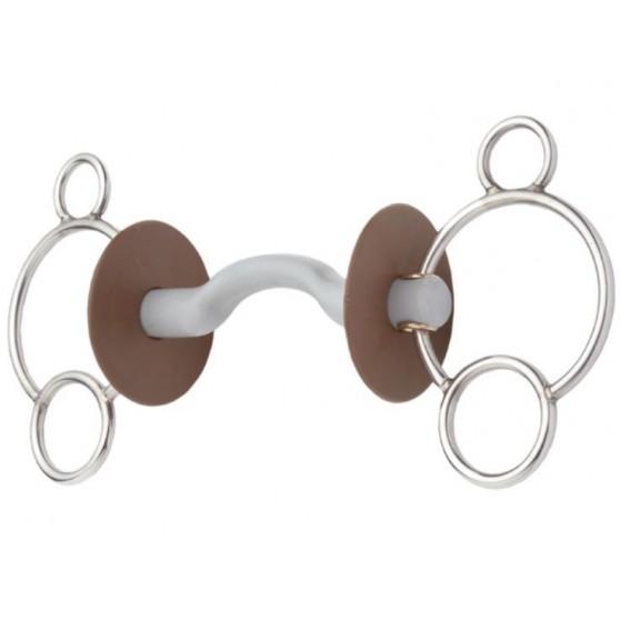 Mors 3 anneaux à passage de langue canon soft Beris