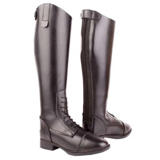 bottes-a-lacet-cuir-synthetique-courtes-larges-pour-dames