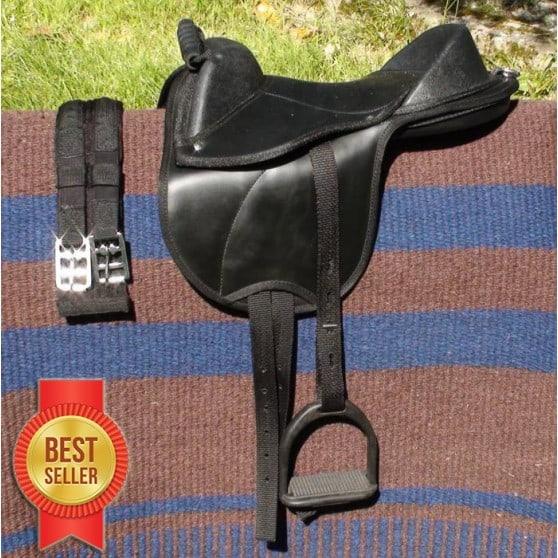 Bardette équipée selle poney ou shetland complète Noir