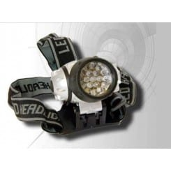 Lampe frontale 19 leds 100.000 heures
