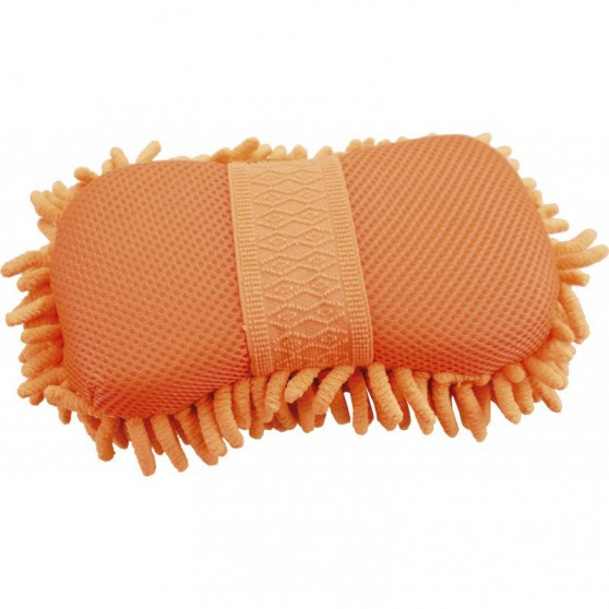 "Eponge Hippo-Tonic ""Chenille/mesh"" Orange"