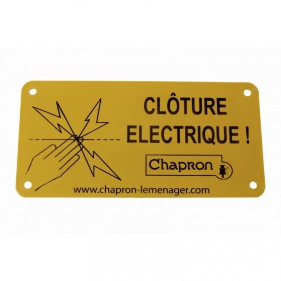 Plaque indicative pour cloture électrique