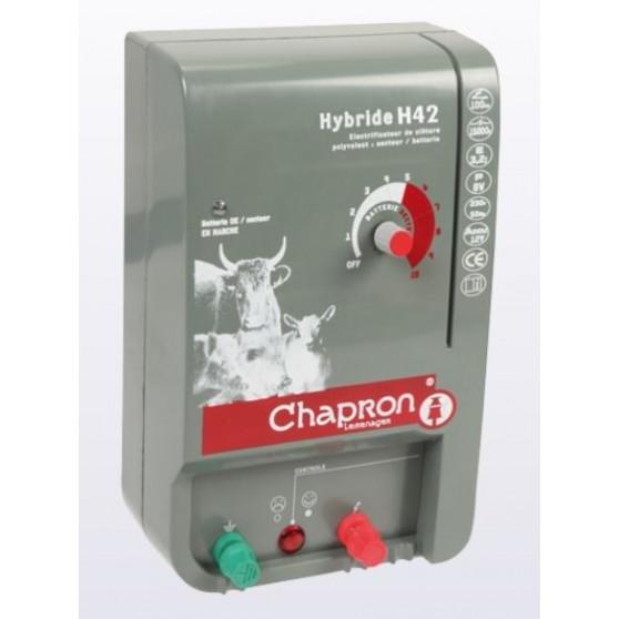 Electrificateur cloture électrique Hybride H42 4.25 joules Chapron