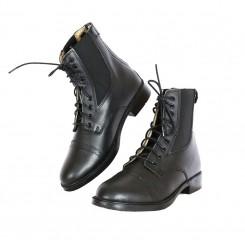 Boots d'équitation cuir à lacets et fermeture éclair  36 à 44