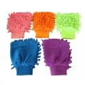 Gants chenille mesh microfibre enfants dames double face