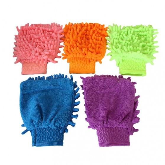 Gants chenille mesh microfibre enfants dames