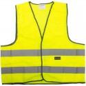 Gilet de sécurité adulte jaune bandes réfléchissantes