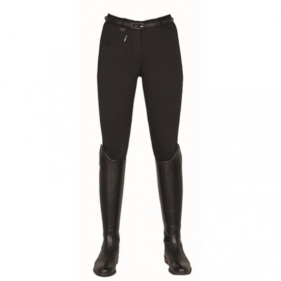 Pantalon d'équitation confort bi-extensible HKM Noir