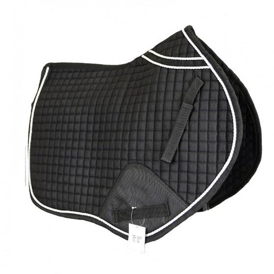 Tapis de selle ergonomique avec renfort DMH Equitation Noir