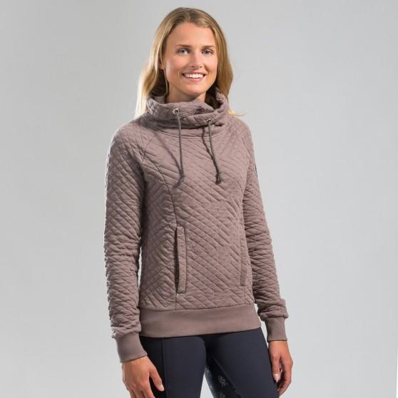 Sweat-shirt Horze Gwen, femme Taupe