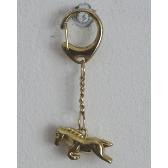 Porte-clés bijoux en forme de cheval Or