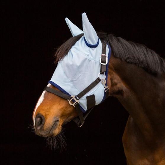 Bonnet masque anti-mouches premier prix Horze Bleu ciel