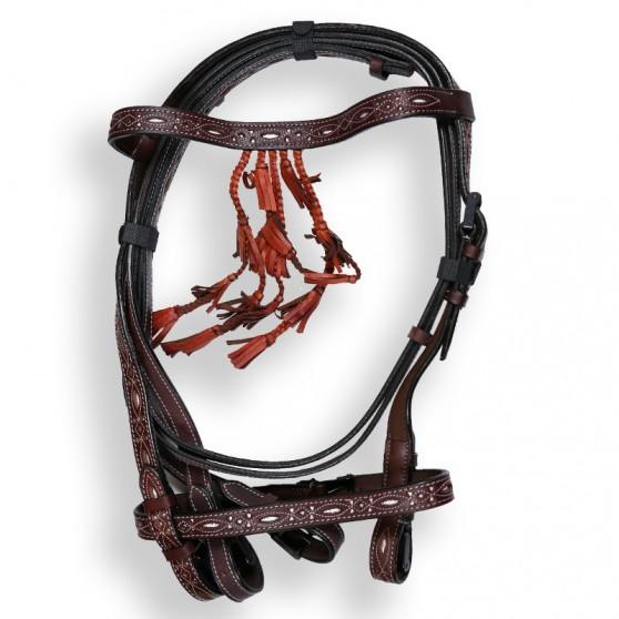 bridon-espagnol-catalona-cuir-sculpte-dmh-equitation