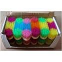 Bouchon brosse dure enfants pour pansage crazy colors