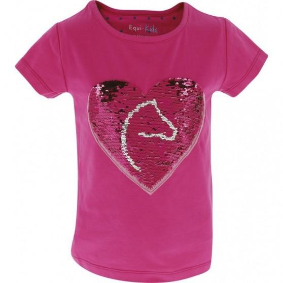 T-Shirt magique sequins Pony Love EQUI-KIDS Filles