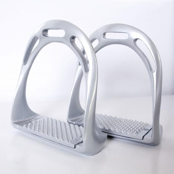 Étriers aluminium ergonomiques DMH Equitation Argent