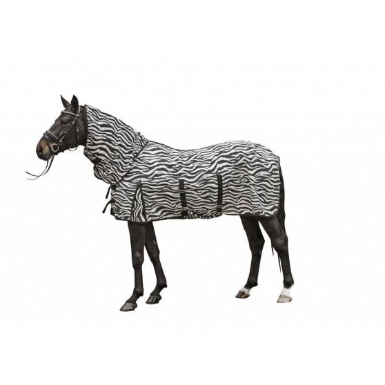 Couverture et couvre-cou anti-mouches -Zebra- HKM