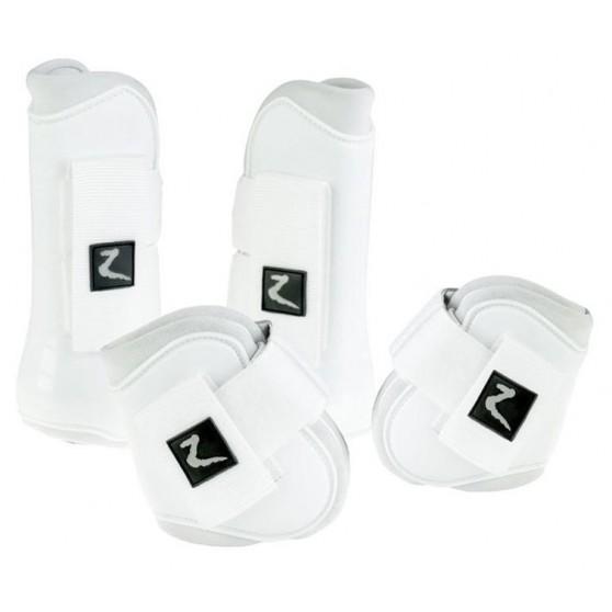 Horze Guêtres coquées + protèges boulets Pro Tec Blanc