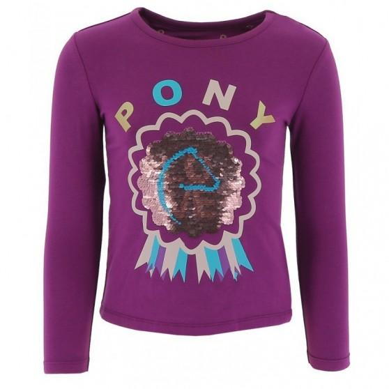 T-Shirt EQUI-KIDS Pony Love à sequins filles