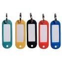 Lot de 10 Porte clés avec étiquettes pour marquer le matériel