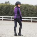 Culotte collant d'équitation d'hiver avec basanes Horze Active, enfant