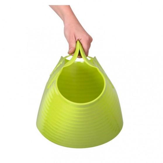 Seau flexible d'écurie Flexiseau FlexBag à poignées 12 litres Vert