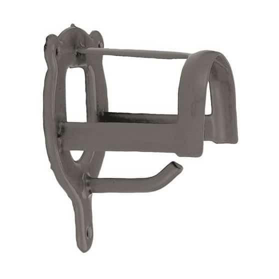 Porte bride filet ou bridon en métal Gris