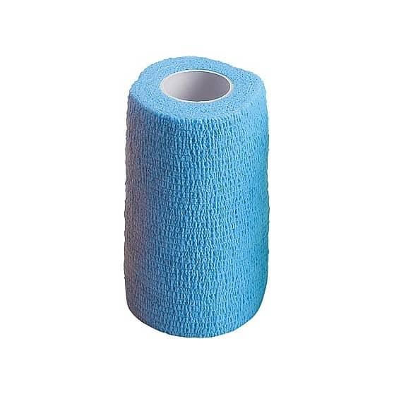 Bande adhérente de travail ou de soins 10 cm Flex-Wrap Bleu
