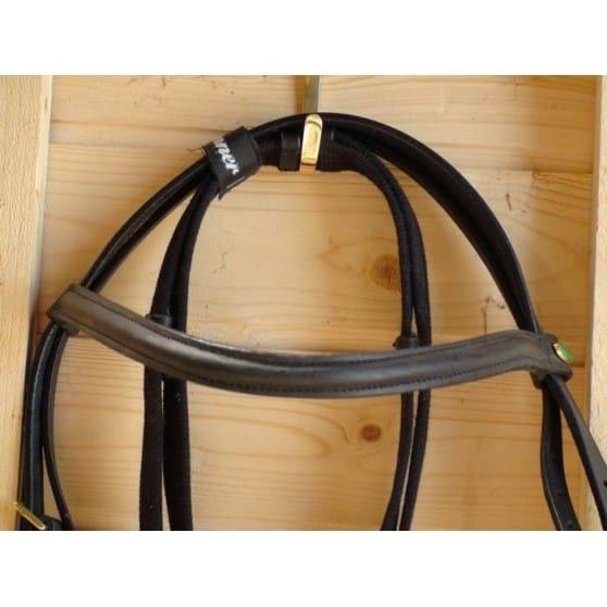 Bridon muserolle combinée shetland au cheval ProTanner Marron