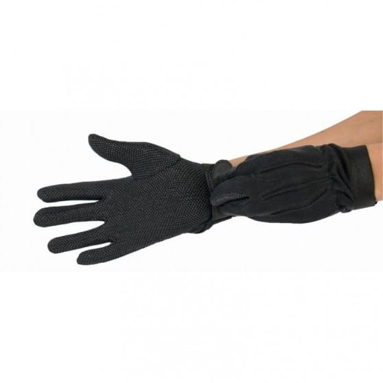 Gants initiation coton cuir TdeT  Noir