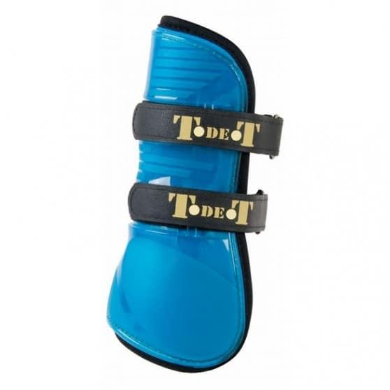 TdeT Guêtres protèges tendons design Fluo jersey Bleu