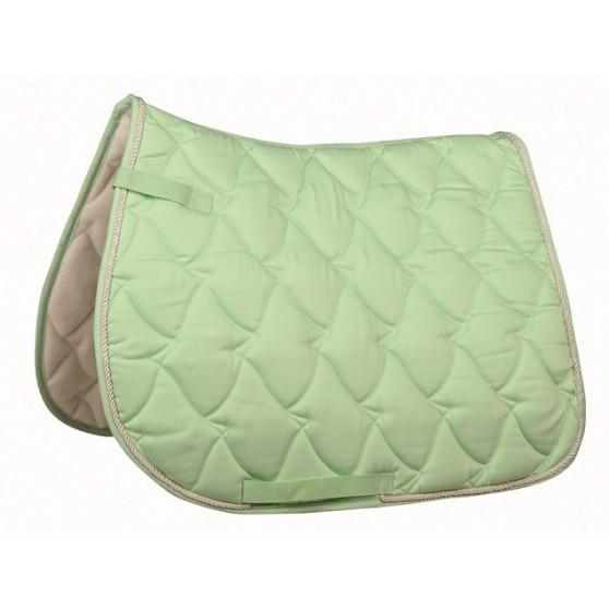 Tapis cheval vert pastel selle mixte ou dressage