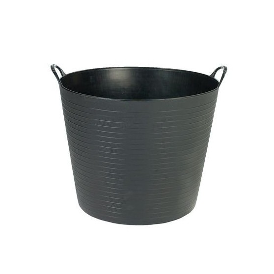 Seau flexible d'écurie Flexiseau FlexBag à poignées 14 litres Noir