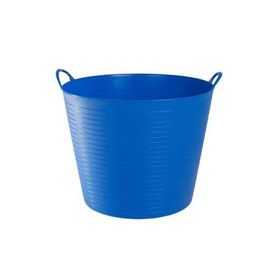 Seau flexible d'écurie Flexiseau FlexBag à poignées 14 litres Bleu